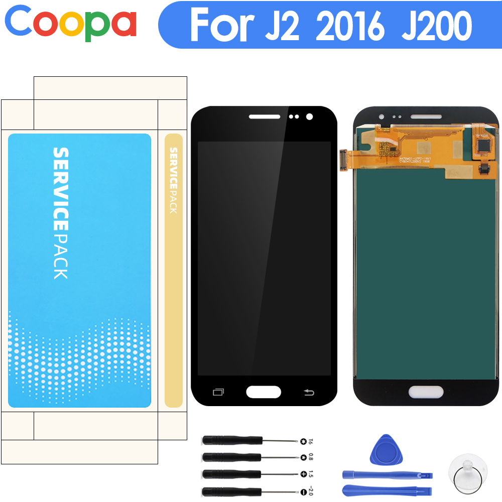 For Samsung Galaxy J2 2016 J200 J200F J200M J200H J200Y LCD Display Touch Screen Digitizer Assembly With Brightness Control