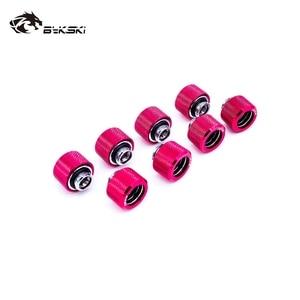 Image 3 - 8 pçs/lote Tubo Rígido Encaixe OD12mm/OD14mm/OD16mm Mão Encaixe De Compressão G1/4 4 Camada Seal Anel use para PMMA/PETG Rigidez Do Tubo