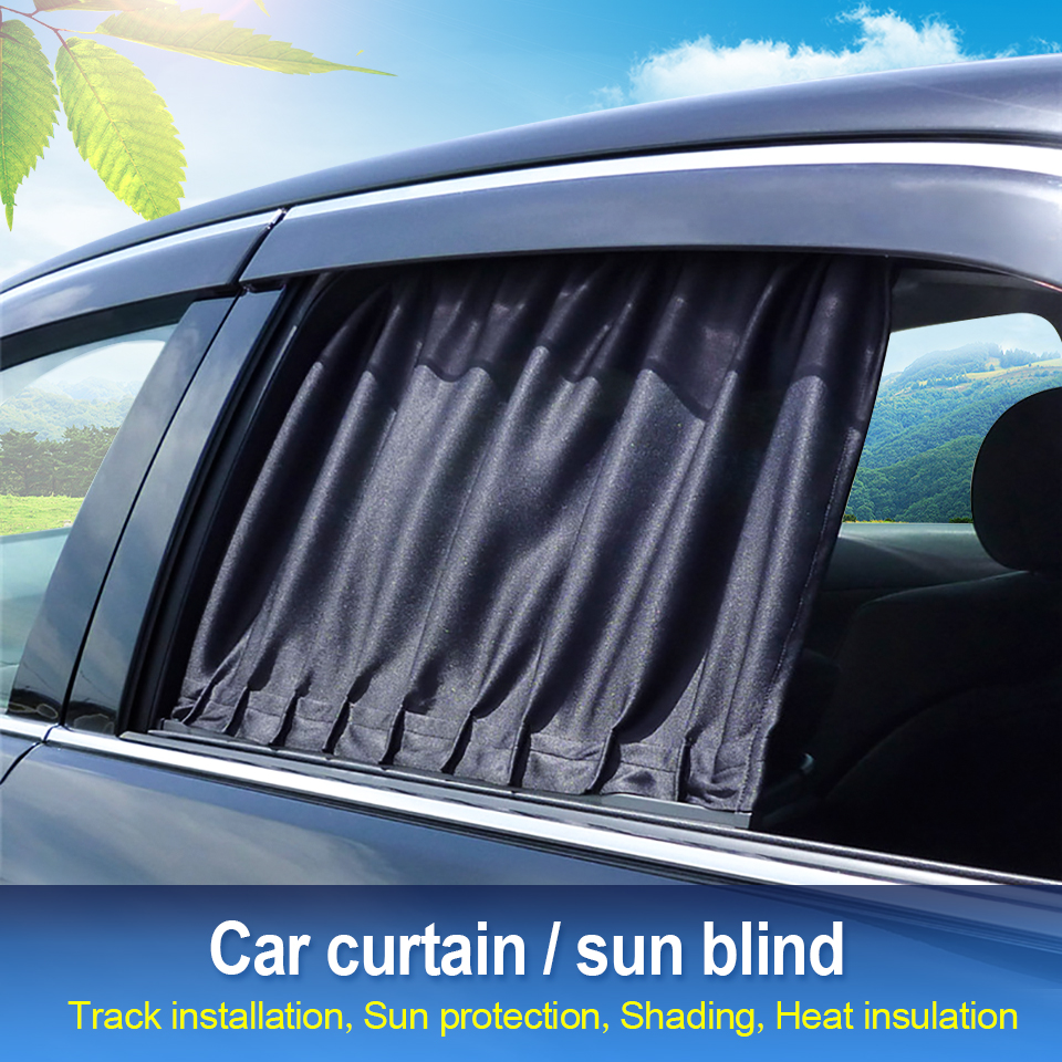 New 2019 Track Car Sunshade  Retractable UV Protection Cover Sun Shield Black For Vehicle Windshield Side Windows for SUV Cars