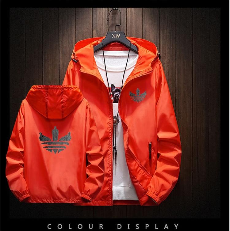 2020 New Brand Men's Jacket Outdoor Travel Hooded Slim Jacket Harajuku Andes Hooded Design Printed Large Size M-8XL Jacket