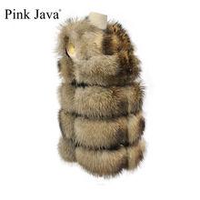 Ppink Java QC19119 Nữ Lông Áo Thật Gấu Trúc Lông Áo Lông Tự Nhiên Áo Gilet Mới Xuất Hiện Bán Thời Trang Áo Khoác Lông Thú