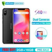 Ulefone S10 Pro Del Telefono Mobile Android 8.1 5.7 pollici MT6739WA Quad Core 2GB di RAM 16GB di ROM 16MP + 5MP Posteriore Doppia Fotocamera 4G Smartphone