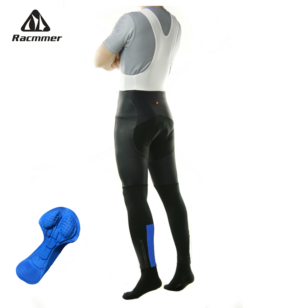 Racmmer Spring Autumn Long Cycling Pants 5D Gel Pad Cycling Bib Tights MTB Bike Pants Downhill Bicycle Pants Cycling Trousers