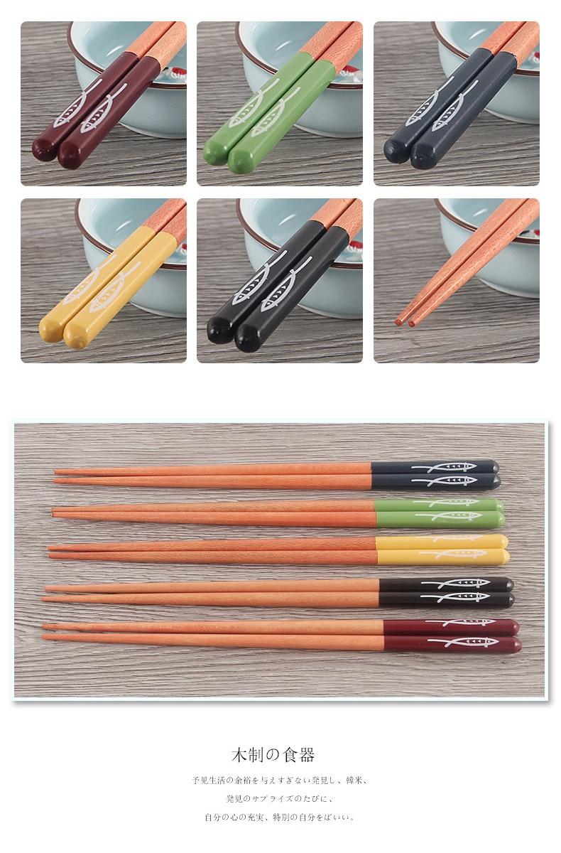 2/5 шт многоразовые японские искусственные деревянные палочки