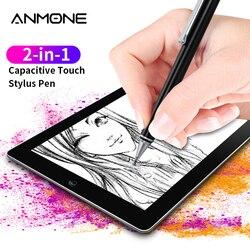 Metalowy uniwersalny pojemnościowy ołówek 2 w 1 rysik do ekranu dotykowego pióro przydatny projekt Tablet pióro do rysowania tabletu Smart Phone