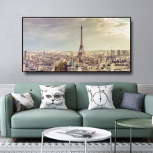 Laeacco Paris France Tower City Photos Canvas Painting Wall Art Pictures Poster For Living Room Home Decor Modern Decoratio