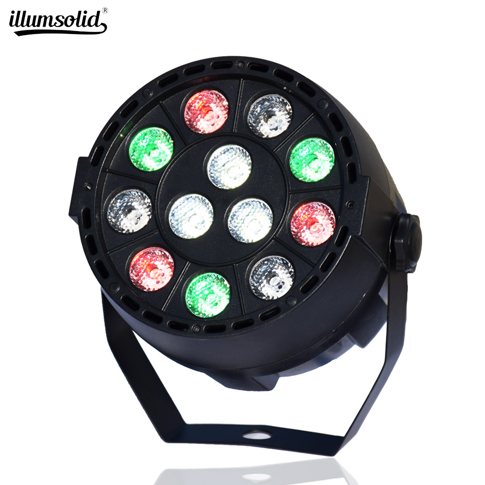 MINI DMX Control RGBW LED Stage Light Flat Par Can Sound Control DJ Stage Effect Light Home Party Disco Club DJ Lights
