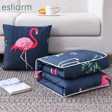 Хлопчатобумажное лоскутное одеяло 2 в 1 для путешествий и подушка