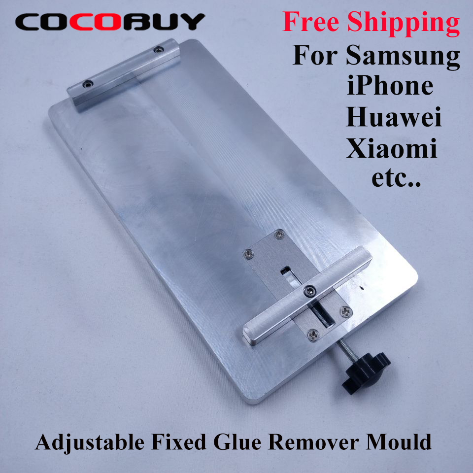 Free Shipping Glue Clear Adjustable Fixture Mould For Samsung IPhone HUAWEI Etc Universal LCD Screen OCA Glue Removing Molds