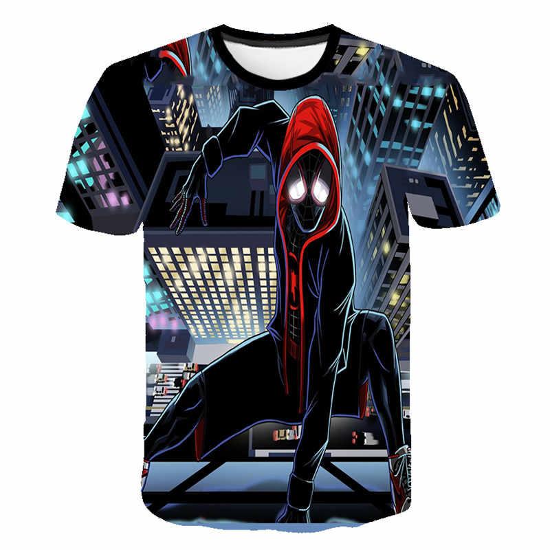 2020 פעוט ילד חולצה ילדי superhero חולצה ילדים באטמן סופרמן ספיידרמן cartoon למתוח קצר שרוול בגדים