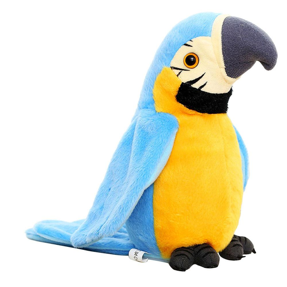 Children's re-reading tongue voice recording electric sound control Electronic Talking Parrot Plush Toys Sound Record Repeat