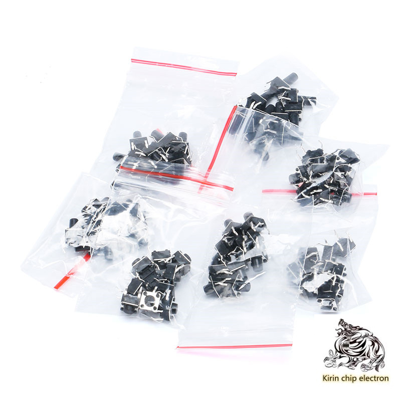 70PCS/LOT Touch Switch Pack Horizontal Key Pack 6*6*4.3/5/6/7/8/9/10/ Total 7 Kinds 10 Each