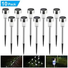 10pcs Led Solar Garden Light Outdoor Decoration Pathway Waterproof LED Solar Powered Lawn Light Street Landscape Yard Lamp(China)