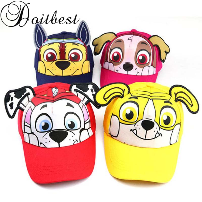 Doitbest 2 To 8 Years Old Child Baseball Cap Hip Hop 2019 Cartoon Dogs Kids Sun Hat Boys Girls Caps Snapback Hats