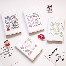 Cute cat passport set ins simple cartoon passport holder passport bag ticket holder