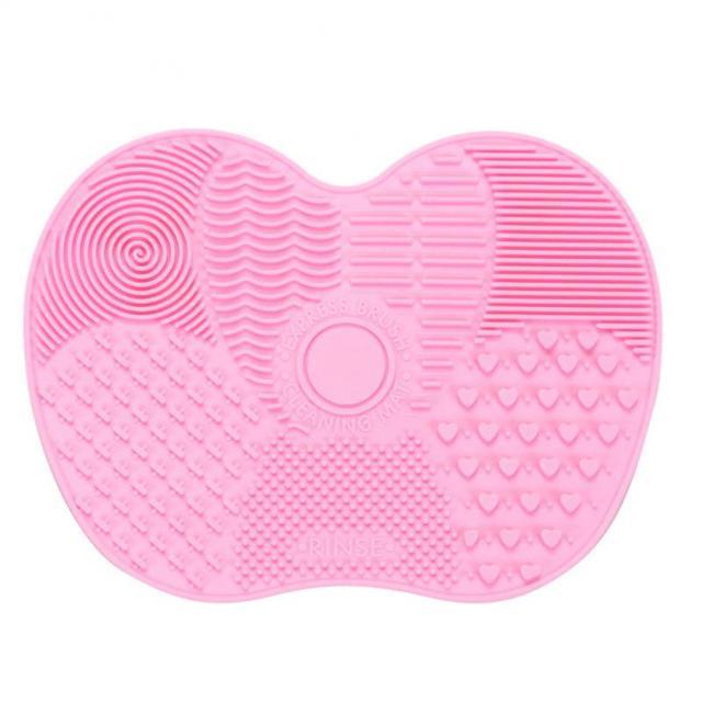 HOT 1 sztuk Makeup muśnięcie silikonowe gąbki do szorowania pokładzie Cleaner Pad żel mata do mycia czyszczenia fundacja cień do oczu w proszku szczotki
