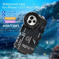 Bluetooth Underwater Case Waterproof Case Diving Case Phone Case Cover 40m/130FT For iPhone 11 / 11 Pro/ 11 Pro Max