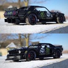 W magazynie seria Technic Super samochód wyścigowy RC Ford Mustang Hoonicorn RTR V2 klocki klocki zabawki dla dzieci prezenty