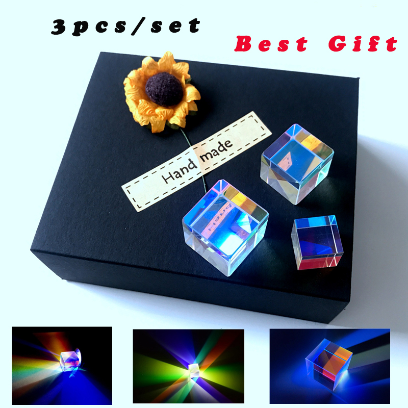 4Pcs 23mm Dichroic Cube Defective RGB Optical Prism Teaching DIY Decoration