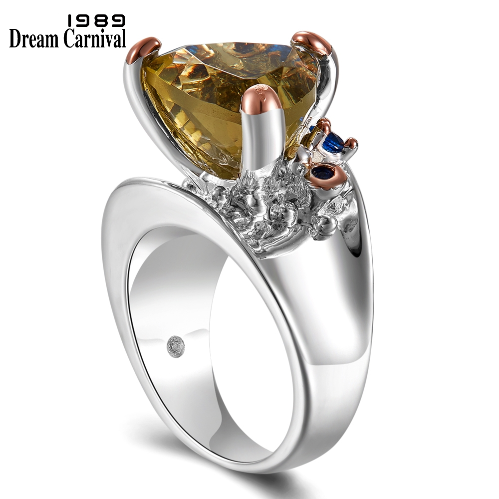 DreamCarnival 1989 New Solitaire Wedding Rings for Women Top Brands Recommend Fall/Winter 2019 Unique Fashion Jewelry WA11721