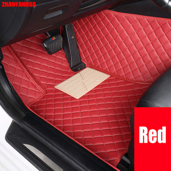 ZHAOYANHUA Car floor mats Case for Chevrolet Cruze Sonic Trax Sail captiva epica leather Anti-slip car-styling carpet liner