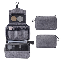 Men Travel Makeup Storage Bag Multi Functions Hook Wash Cosmetic Folding Hanging Toiletry Pouch Unisex Package