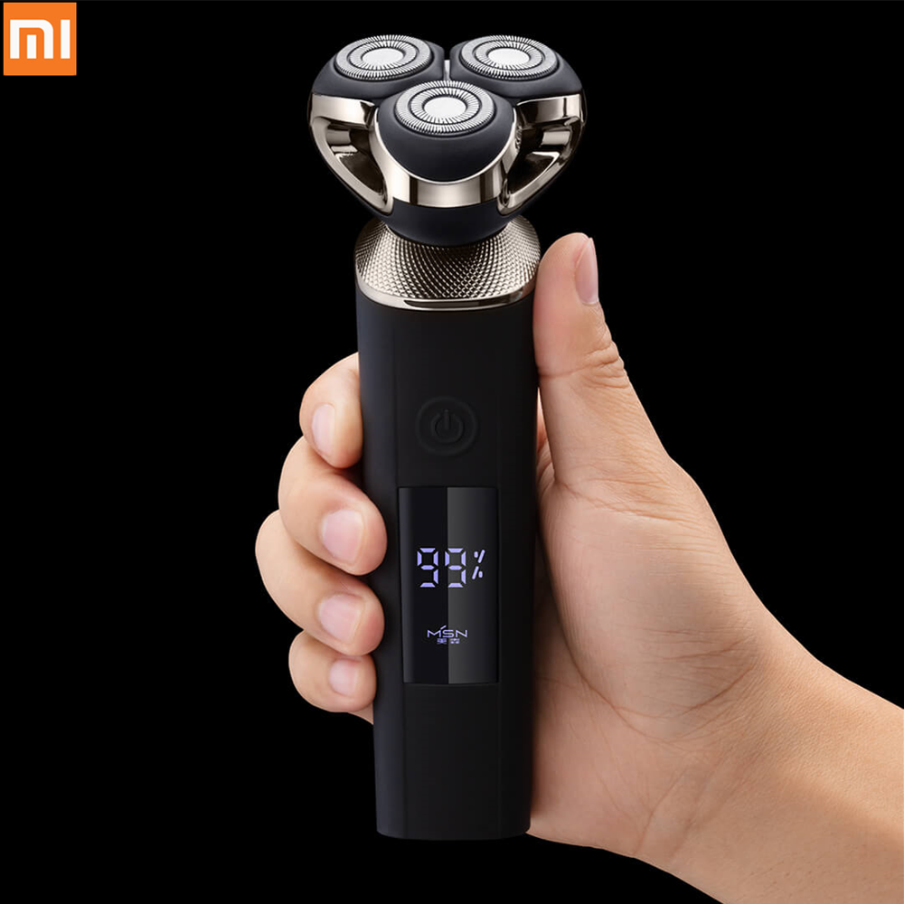 Xiaomi MSN Electric Shaver Three-blade Shaver LCD Display Intelligent Control Automatic Full Body Washing USB Type-C Charging
