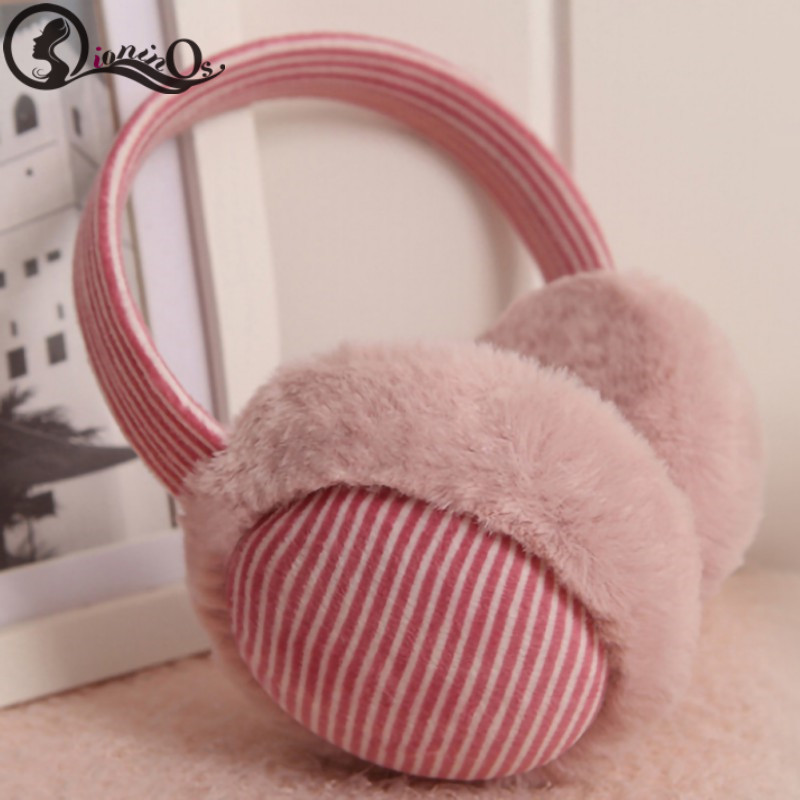 Autumn Winter Children's Solid Earmuffs Headphones Warm Comfortable Fashion Earmuffs Music Earphones AUX Cable Soft Ear Warmers
