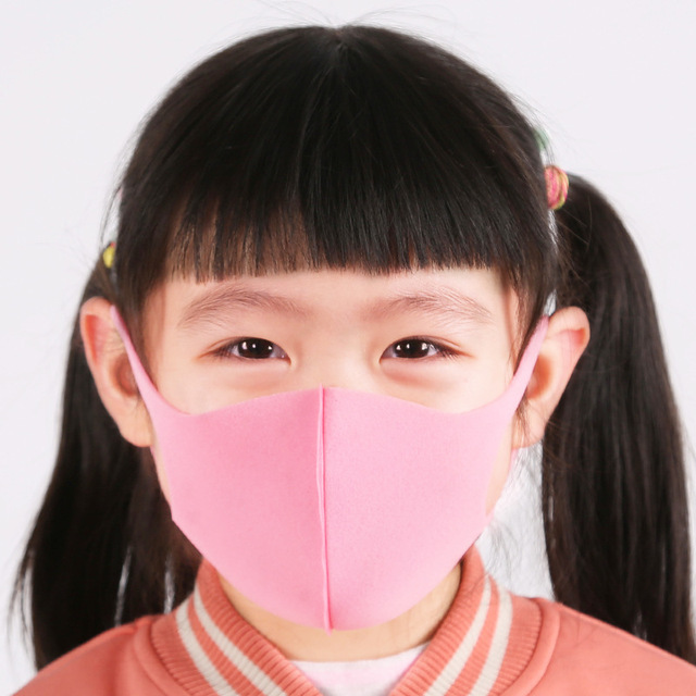3pcs Children Sponge Mouth Mask Anti Dust Haze Mouth Face Mask Respirator Masks bacteria proof Flu Face masks Care with 6 color 3