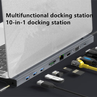 xXx 10in1 USB3.0 hub Ethernet connection Type C PD for smartphone Huawei MacBook expansion docking station 4K HDMI SD TF LAN
