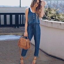 Женский Осенний комбинезон, длинный джинсовый комбинезон, женская одежда для улицы