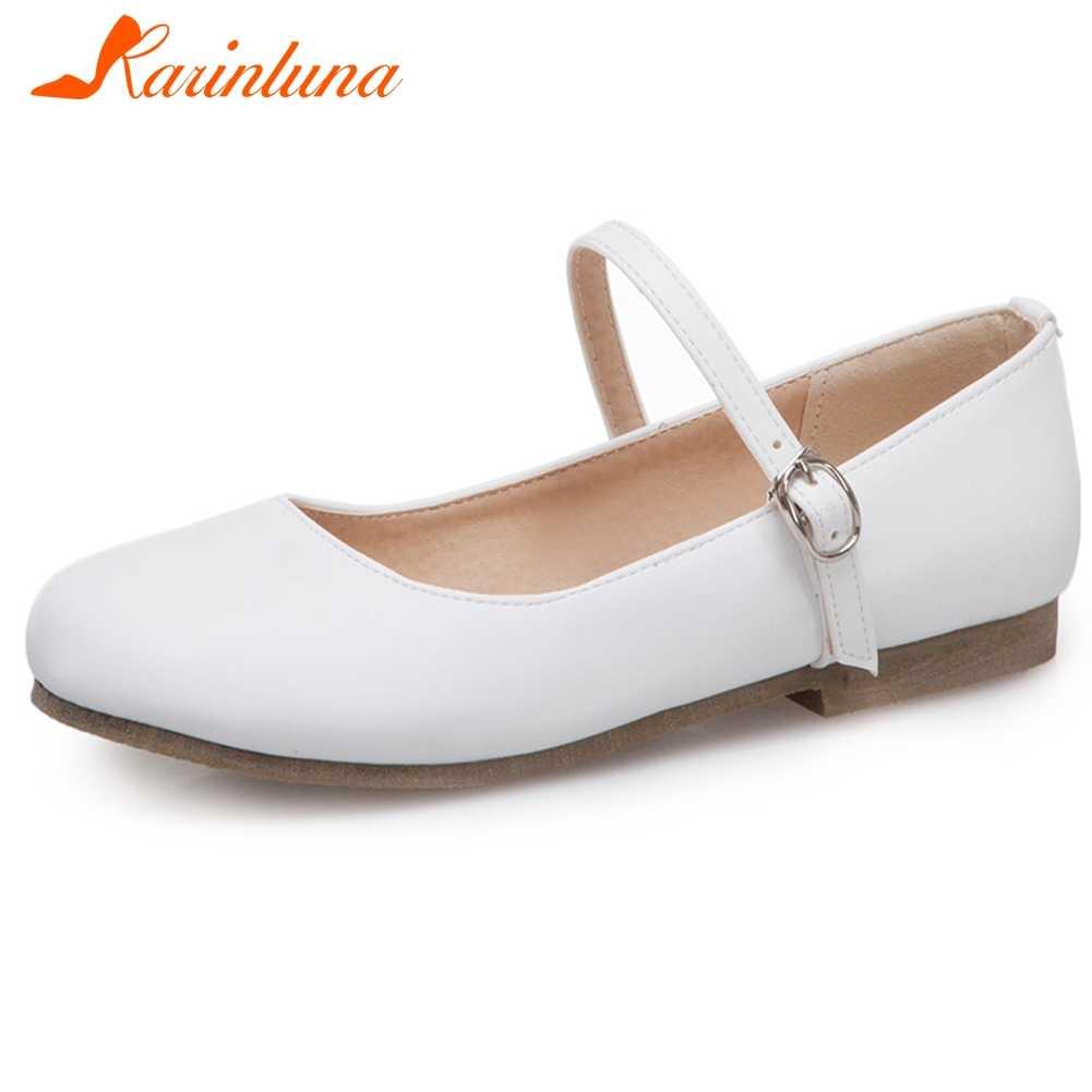 KARINLUNA ขนาดใหญ่ 32-43 ยี่ห้อใหม่สุภาพสตรีรองเท้าสบายๆแบบสบายๆแฟชั่นหัวเข็มขัดฤดูใบไม้ผลิฤดูใบไม้ร่วงผู้หญิง Mary Janes รองเท้าผู้หญิง