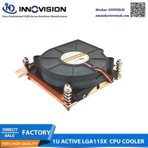 2020 Новый LGA1150 1151 1155 1156 1U процессор кулер активный радиатор с 75*75*15 высокоскоростной вентилятор