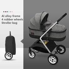 Adjustable Luxury Baby Stroller 3 in 1 Portable High Landscape Reversible Stroller Hot Mom Pink Stroller Travel Pram Pushchair стоимость