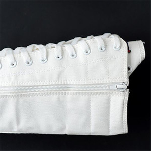Image 4 - عالية الجودة أنبوب طويل الأحذية النسائية قماش غير رسمي الجانب سستة حزام أحذية رياضية أحذية نسائية الشتاء أحذية النساء الفخذ أحذية عالية