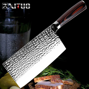 XITUO Stainless Steel Chef Knife Forging Anti-stick Sharp Cleaver Fish Vegetable Chinese Kitchen Knife Household Cooking Tools(China)