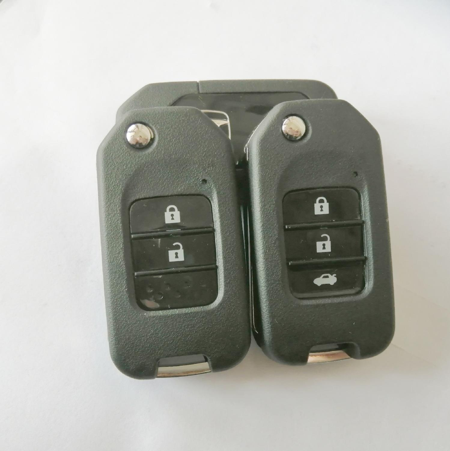 With Logo Folding Car Key <font><b>Flip</b></font> Key Shell Stying Cover Case 2/3 Button <font><b>Remote</b></font> Key Cover Smart Key Case For <font><b>Honda</b></font> CRV New <font><b>Accord</b></font> image