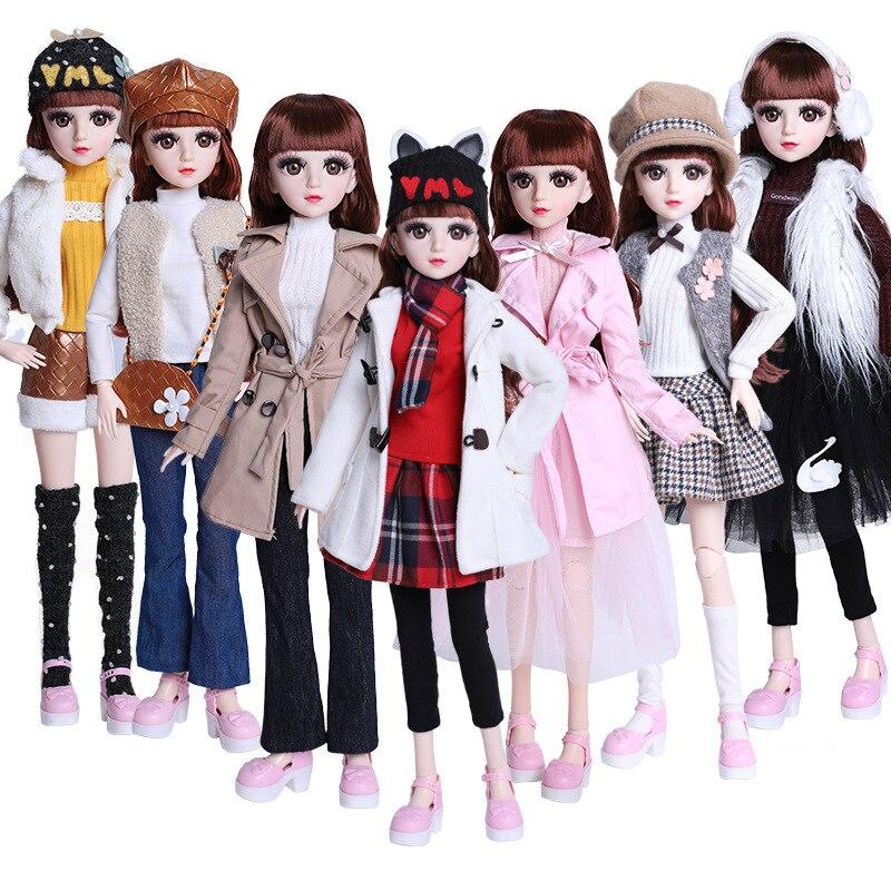 Hermosa hecha a mano de la muñeca vestido 60cm muñeca de BJD ropa de moda Casual vestido de traje 1/3 accesorios de la muñeca chicas regalos de juguetes para niños|Muñecas|   - AliExpress