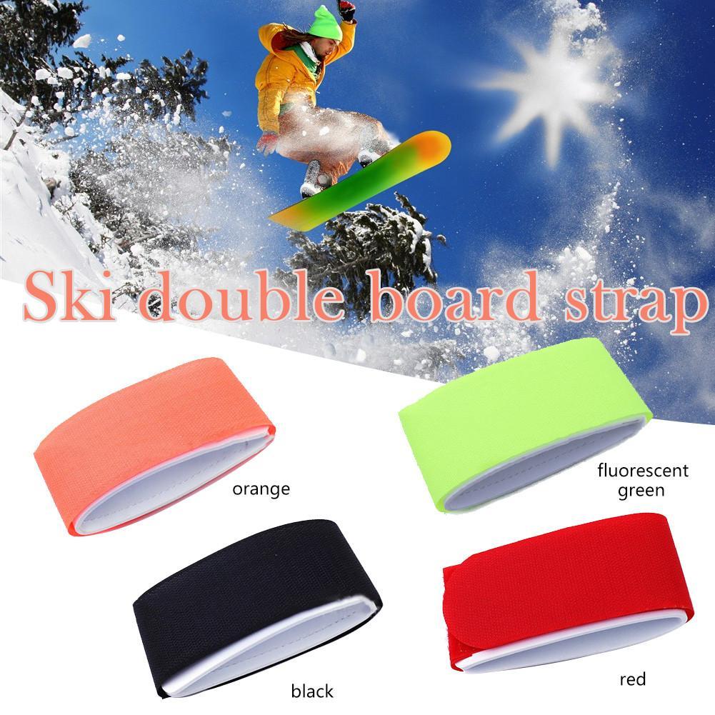 Ski Snowboard Tie Bandage Support Nylon Hook&Loop Strap Ski Snowboard Bag Carrier Holder Hook And Loop Snowboarding Accessories4