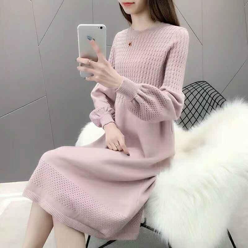 Dicke Warme Frauen oansatz pullover 2019 Winter Frauen Pullover Und Pullover Stricken Langarm Pullover Weibliche Jumper Tops pullover