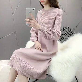 Thick Warm Women o-neck pullover 2020 Winter Women Sweaters And Pullovers Knit Long Sleeve Sweater Female Jumper Tops sweater thick warm women turtleneck 2020 winter women cashmere sweaters and pullovers knit long sleeve wool sweater female jumper