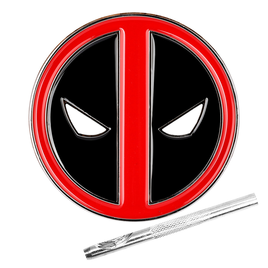 Deadpool Design Metal Belt Buckle Stylish Zinc Alloy Belt Buckles Replacement Item With Belt Punch Tool