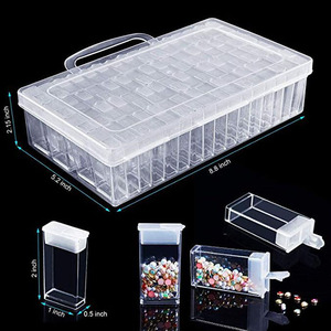 28/56/64pcs Diamond Painting Tools Accessories Beads Container Rhinestone Diamond Embroidery Stone Storage Convenience Box