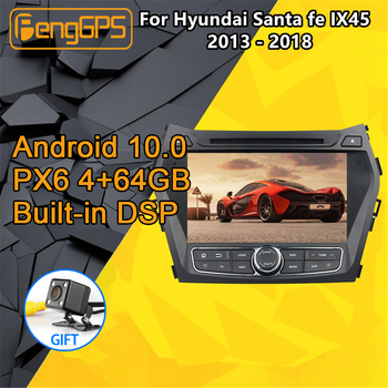For Hyundai Santa fe Android Radio 2011 2013 2015 Car multimedia DVD Player Stereo GPS Navi unit Autoradio cassette recorder image