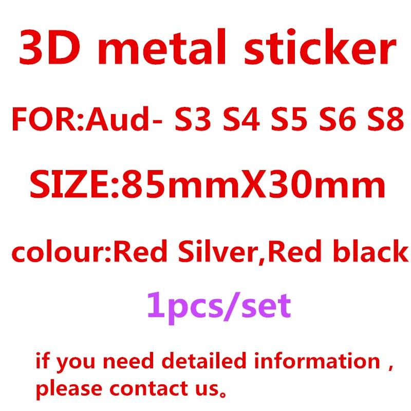 S3 S4 S5 S6 S7 S8 RS3 RS4 RS5 RS6 RS8 Emblem Letters Number Metal Car Styling Refitting Trunk 3D Sticker For Audi A4L A6L A5 A7