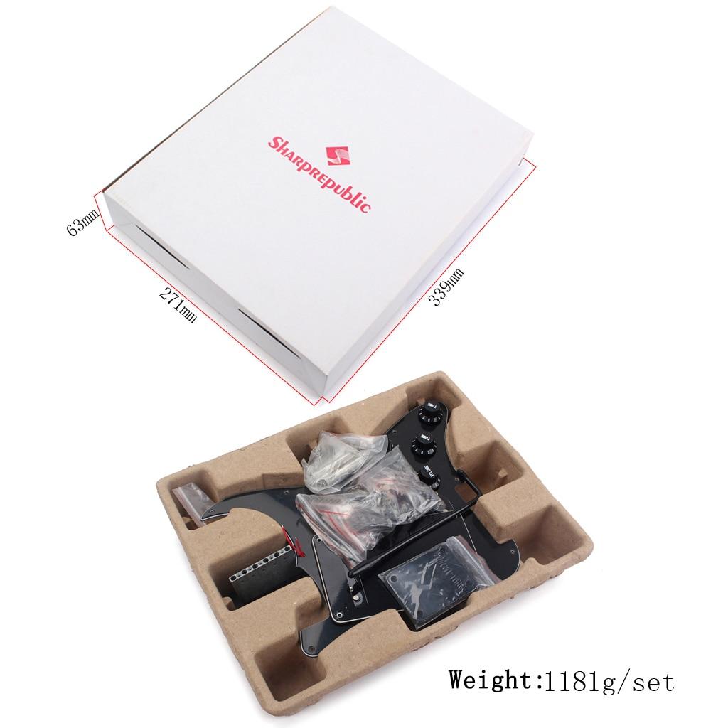 Pickguard de ramassage chargé Durable avec écrou 6R touches de réglage ensemble de plaque Jack pour accessoire de guitare électrique