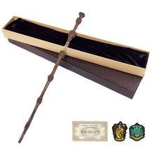35-42cm Metall Core Töpfer Zauberstab 20 Arten Cosplay Dumbledore Voldemort Malfoy Snape Zauberstäbe Spielzeug Ticket Abzeichen als Freies Geschenk