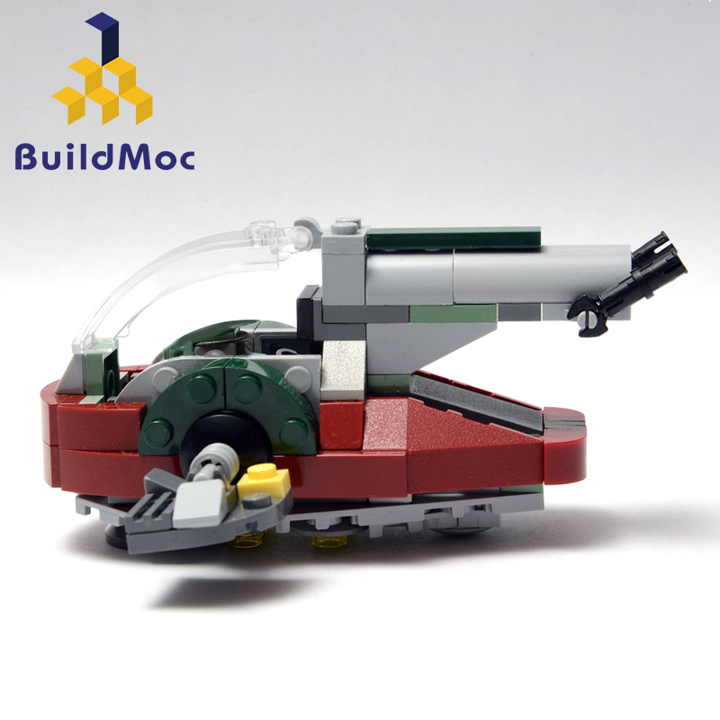 BuildMOC Star Wars Movies Mini Universe New Slave I Spacecraft Model Building Blocks <font><b>05037</b></font> Starwars Slave one Bricks Toys Gifts image