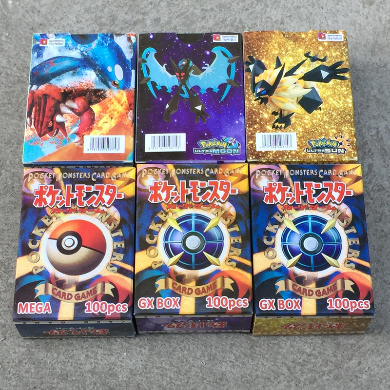 300 Pcs NO Repeat Pokemon Shining Cards GX MEGA Battle Carte 60 100Pcs Game Trading Cards EX TARINER Children Kids Toys Gifts