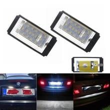2 pces carro erro livre 18led número da placa de licença lâmpadas luz para bmw série 3 e46 2d 3m facelift 1998-2003 1999 2000 2001 2002